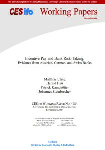 Incentive Pay and Bank Risk-Taking summary