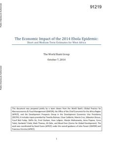 The Economic Impact of the 2014 Ebola Epidemic summary