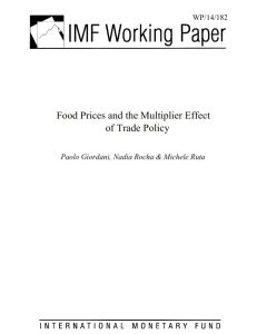 Food Prices and the Multiplier Effect of Trade Policy summary