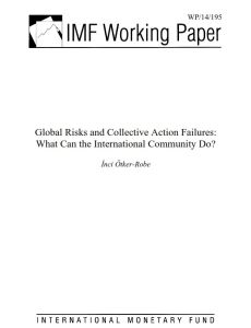 Global Risks and Collective Action Failures summary