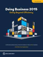 Doing Business 2015 summary