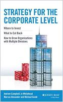 Strategy for the Corporate Level book summary