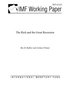 The Rich and the Great Recession summary