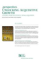 Unlocking Acquisitive Growth summary