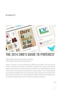 The 2014 CMO's Guide to Pinterest summary