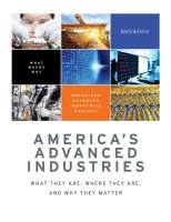 America's Advanced Industries summary