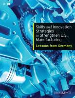 Skills and Innovation Strategies to Strengthen U.S. Manufacturing summary