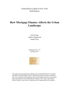 How Mortgage Finance Affects the Urban Landscape summary