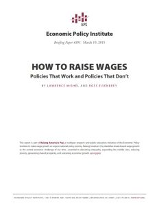 How to Raise Wages summary