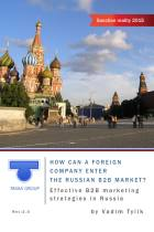 How Can a Foreign Company Enter the Russian B2B Market?