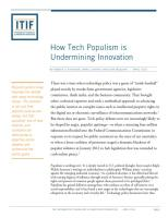How Tech Populism is Undermining Innovation summary