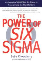 The Power of Six Sigma book summary