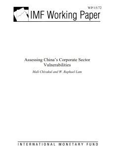 Assessing China's Corporate Sector Vulnerabilities summary
