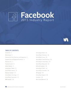 Facebook 2015 Industry Report summary