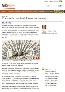 US Tax Law Has Unintended Global Consequences summary