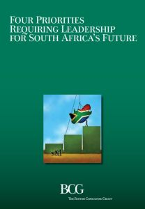 Four Priorities Requiring Leadership for South Africa's Future summary