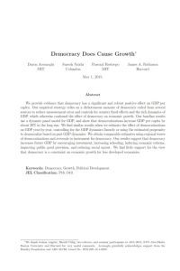 Democracy Does Cause Growth summary