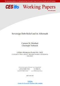 Sovereign Debt Relief and Its Aftermath