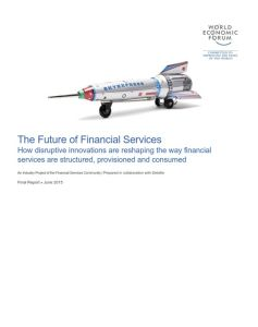 The Future of Financial Services summary