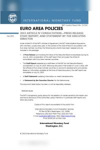 Euro Area Policies summary