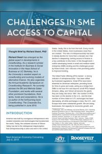 Challenges in SME Access to Capital summary