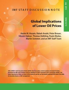 Global Implications of Lower Oil Prices summary