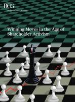 Winning Moves in the Age of  Shareholder Activism summary