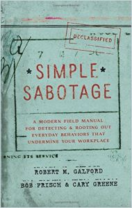 Simple Sabotage book summary