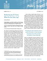 Reshoring by US Firms summary