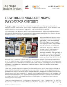 How Millennials Get News summary