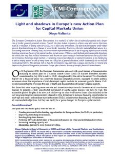 Light and Shadows in Europe's New Action Plan for Capital Markets Union summary