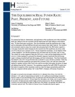The Equilibrium Real Funds Rate summary