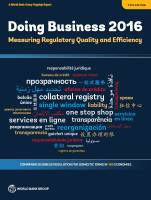 Doing Business 2016 summary