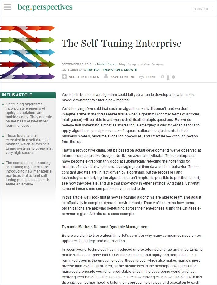 Image of: The Self-Tuning Enterprise