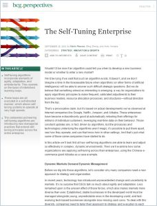 The Self-Tuning Enterprise