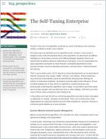 The Self-Tuning Enterprise summary