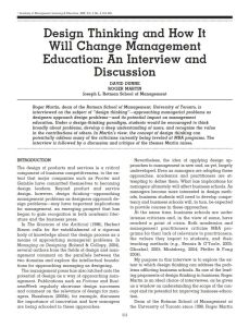 Design Thinking and How It Will Change Management Education summary