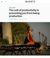 The Cult of Productivity Is Preventing You from Being Productive summary