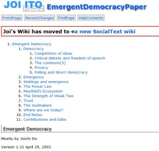 Emergent Democracy summary