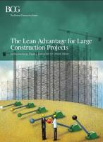 The Lean Advantage for Large Construction Projects summary