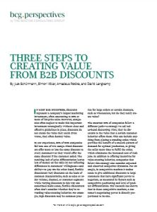 Three Steps to Creating Value from B2B Discounts