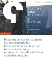 The Five Fatal Mistakes of Startups summary