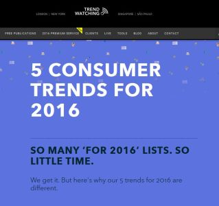 5 Consumer Trends for 2016 summary