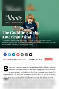 The Coddling of the American Mind summary