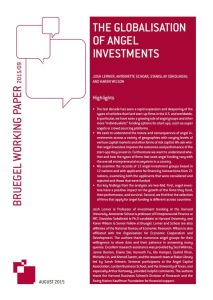 The Globalization of Angel Investments