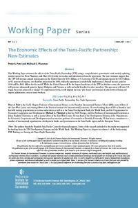 The Economic Effects of the Trans-Pacific Partnership summary