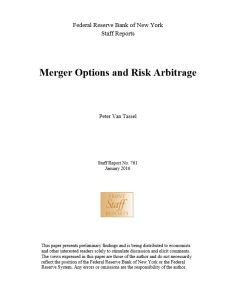Merger Options and Risk Arbitrage summary
