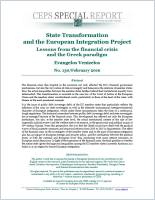 State Transformation and the European Integration Project summary