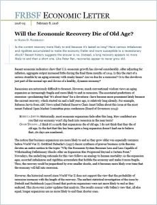 Will the Economic Recovery Die of Old Age? summary