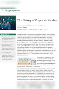 The Biology of Corporate Survival summary